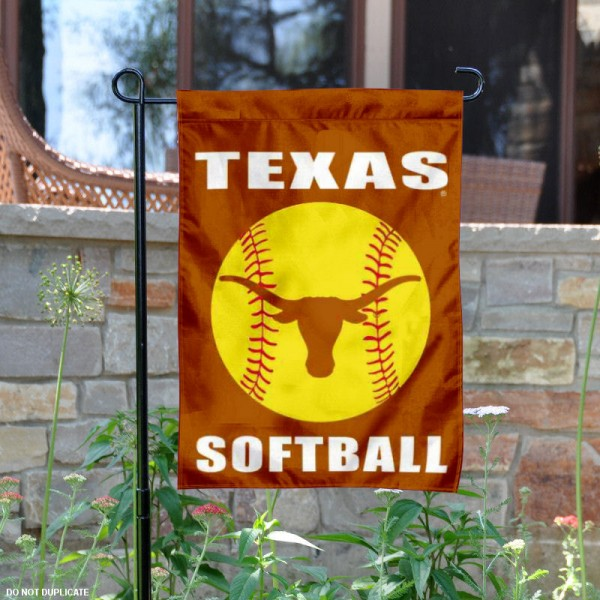 UT Longhorns Womens Softball Yard Flag is 13x18 inches in size, is made of 2-layer polyester, screen printed University of Texas Softball athletic logos and lettering. Available with Same Day Express Shipping, Our UT Longhorns Womens Softball Yard Flag is officially licensed and approved by University of Texas Softball and the NCAA.