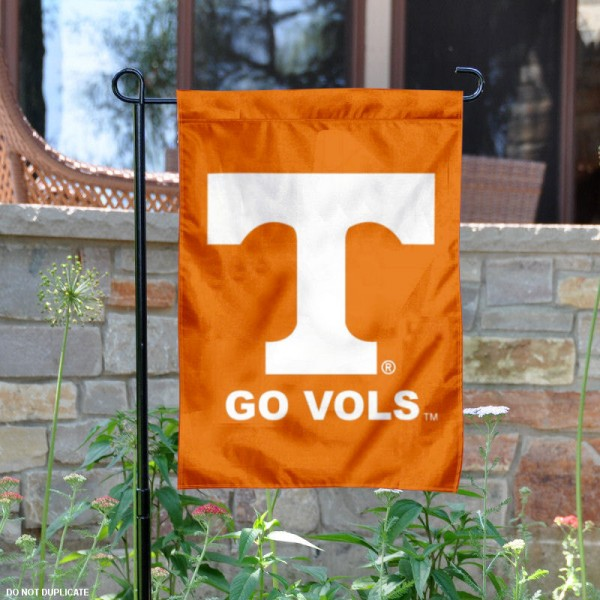 UT Volunteers Go Vols Garden Flag is 13x18 inches in size, is made of 2-layer polyester, screen printed University of Tennessee athletic logos and lettering. Available with Same Day Express Shipping, Our UT Volunteers Go Vols Garden Flag is officially licensed and approved by University of Tennessee and the NCAA.