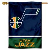 Utah Jazz Logo Double Sided House Flag