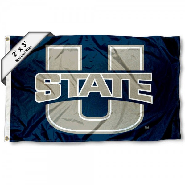Utah State Aggies Small 2'x3' Flag measures 2x3 feet, is made of 100% polyester, offers quadruple stitched flyends, has two brass grommets, and offers printed Utah State Aggies logos, letters, and insignias. Our 2x3 foot flag is Officially Licensed by the selected university.