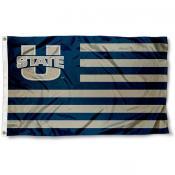 Utah State Aggies Stripes Flag