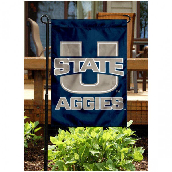 Utah State University Garden Flag is 13x18 inches in size, is made of 2-layer polyester, screen printed Utah State University athletic logos and lettering. Available with Same Day Express Shipping, Our Utah State University Garden Flag is officially licensed and approved by Utah State University and the NCAA.