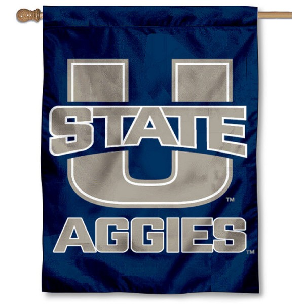 Utah State University House Flag is a vertical house flag which measures 30x40 inches, is made of 2 ply 100% polyester, offers dye sublimated NCAA team insignias, and has a top pole sleeve to hang vertically. Our Utah State University House Flag is officially licensed by the selected university and the NCAA