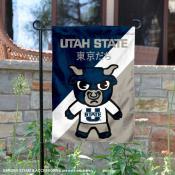 Utah State University Tokyo Dachi Mascot Yard Flag