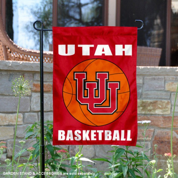 Utah Utes Basketball Garden Banner is 13x18 inches in size, is made of 2-layer polyester, screen printed athletic logos and lettering. Available with Same Day Express Shipping, Our Utah Utes Basketball Garden Banner is officially licensed and approved by the school and the NCAA.