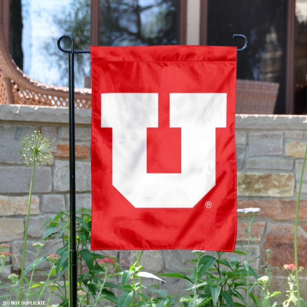 Utah Utes Big U Garden Flag is 13x18 inches in size, is made of 2-layer polyester, screen printed University of Utah athletic logos and lettering. Available with Same Day Express Shipping, Our Utah Utes Big U Garden Flag is officially licensed and approved by University of Utah and the NCAA.
