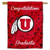 Utah Utes Congratulations Graduate Flag