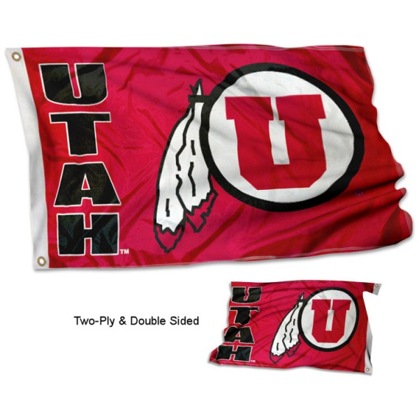 Utah Utes Flag measures 3'x5' in size, is made of 2 layer 100% Polyester, has quadruple stitched fly ends for durability, and is viewable and readable correctly on both sides. Our Utah Utes Flag is officially licensed by the university, school, and the NCAA.