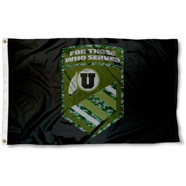 Utah Utes For Those Who Served Flag measures 3x5 feet, is made of 100% polyester, offers quadruple stitched flyends, has two metal grommets, and offers screen printed NCAA team logos and insignias. Our Utah Utes For Those Who Served Flag is officially licensed by the selected university and NCAA.