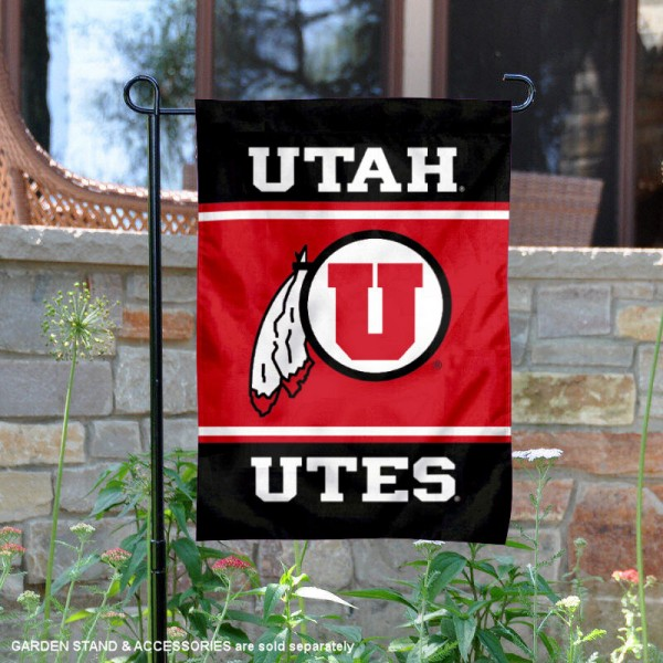 Utah Utes Garden Flag is 13x18 inches in size, is made of 2-layer polyester, screen printed logos and lettering. Available with Same Day Express Shipping, Our Utah Utes Garden Flag is officially licensed and approved by the NCAA.