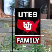 Utah Utes Garden Flag with USA Country Stars and Stripes