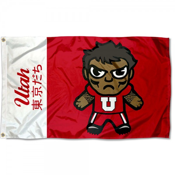 Utah Utes Kawaii Tokyo Dachi Yuru Kyara Flag measures 3x5 feet, is made of 100% polyester, offers quadruple stitched flyends, has two metal grommets, and offers screen printed NCAA team logos and insignias. Our Utah Utes Kawaii Tokyo Dachi Yuru Kyara Flag is officially licensed by the selected university and NCAA.
