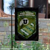 Utah Utes Military Served Garden Flag