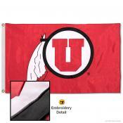 Utah Utes Nylon Embroidered Flag