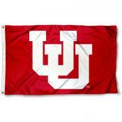 Utah Utes Throwback Logo Flag