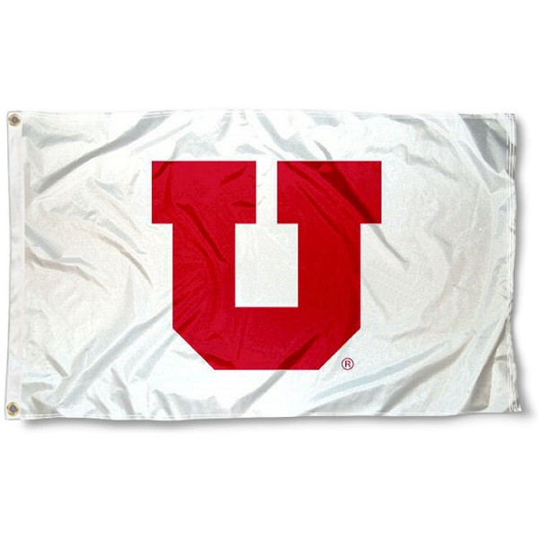 Utah Utes Whiteout Flag measures 3'x5', is made of 100% poly, has quadruple stitched sewing, two metal grommets, and has double sided Team University logos. Our Utah Utes 3x5 Flag is officially licensed by the selected university and the NCAA.