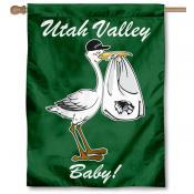Utah Valley Wolverines New Baby Flag