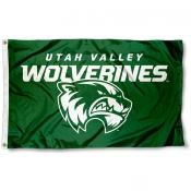 Utah Valley Wolverines New Logo Flag