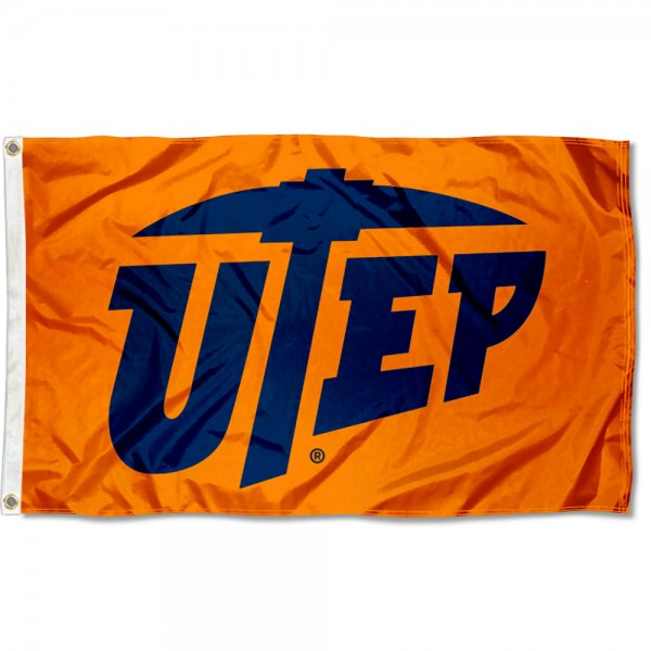UTEP Orange Flag measures 3x5 feet, is made of 100% polyester, offers quadruple stitched flyends, has two metal grommets, and offers screen printed NCAA team logos and insignias. Our UTEP Orange Flag is officially licensed by the selected university and NCAA.