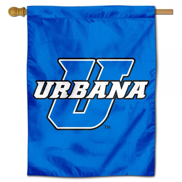 UU Blue Knights House Flag is a vertical house flag which measures 30x40 inches, is made of 2 ply 100% polyester, offers screen printed NCAA team insignias, and has a top pole sleeve to hang vertically. Our UU Blue Knights House Flag is officially licensed by the selected university and the NCAA.