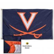 UVA Cavaliers Nylon Embroidered Flag
