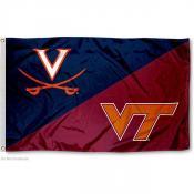 UVA vs. VT House Divided 3x5 Flag