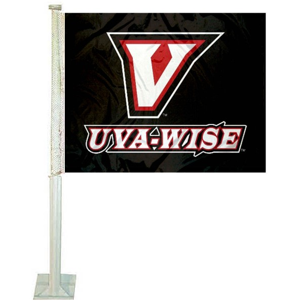 UVA-Wise Cavaliers Logo Car Flag measures 12x15 inches, is constructed of sturdy 2 ply polyester, and has screen printed school logos which are readable and viewable correctly on both sides. UVA-Wise Cavaliers Logo Car Flag is officially licensed by the NCAA and selected university.