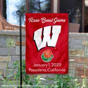 UW Badgers 2020 Rose Bowl Game Garden Flag