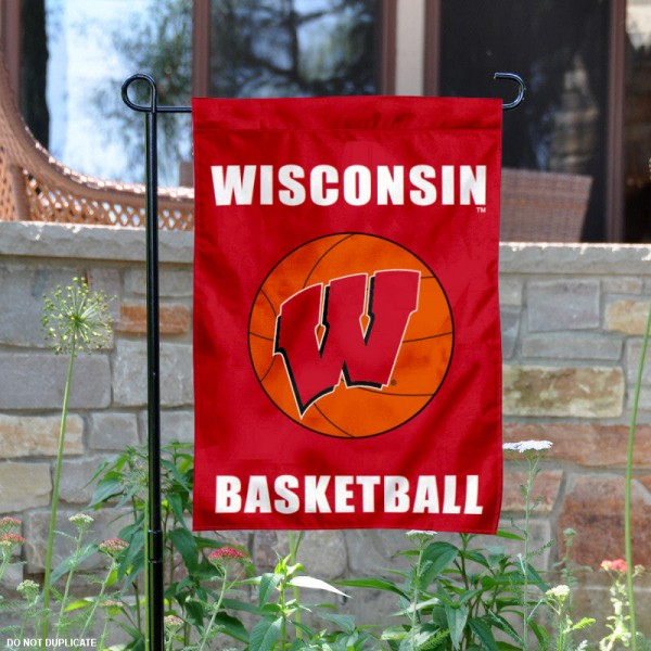 UW Badgers Basketball Garden Banner is 13x18 inches in size, is made of 2-layer polyester, screen printed University of Wisconsin athletic logos and lettering. Available with Same Day Express Shipping, Our UW Badgers Basketball Garden Banner is officially licensed and approved by University of Wisconsin and the NCAA.