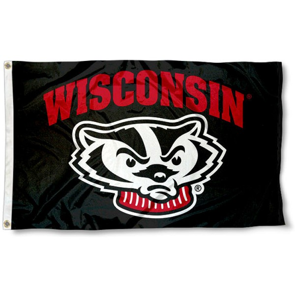 UW Badgers Black Flag measures 3x5 feet, is made of 100% polyester, offers quadruple stitched flyends, has two metal grommets, and offers screen printed NCAA team logos and insignias. Our UW Badgers Black Flag is officially licensed by the selected university and NCAA.