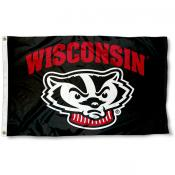UW Badgers Black Flag