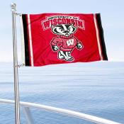 UW Badgers Bucky Badger Boat Flag