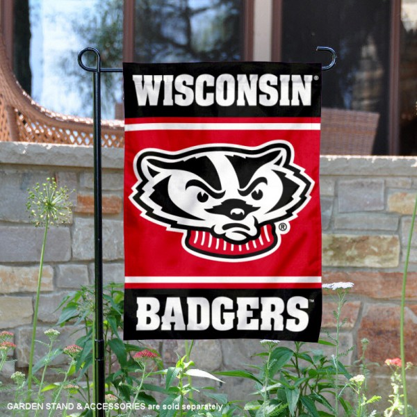 UW Badgers Garden Flag is 13x18 inches in size, is made of 2-layer polyester, screen printed logos and lettering. Available with Same Day Express Shipping, Our UW Badgers Garden Flag is officially licensed and approved by the NCAA.