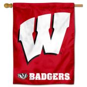 UW Badgers Motion W Banner Flag