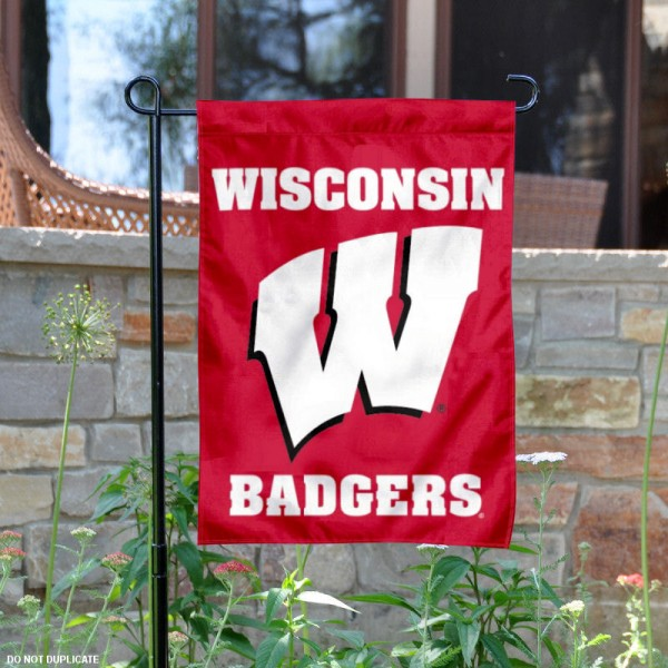 UW Badgers Red Garden Flag is 13x18 inches in size, is made of 2-layer polyester, screen printed University of Wisconsin athletic logos and lettering. Available with Same Day Express Shipping, Our UW Badgers Red Garden Flag is officially licensed and approved by University of Wisconsin and the NCAA.