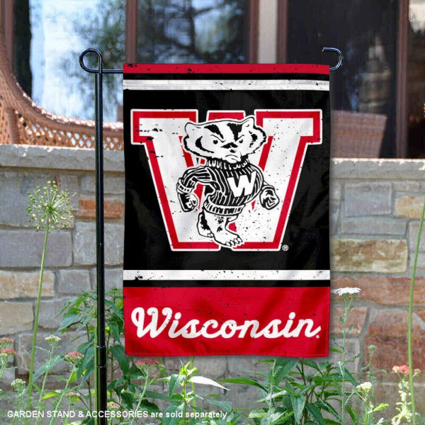 UW Badgers Vintage Vault Garden Flag is 12x18 inches in size, is made of 1-layer polyester, screen printed logos and lettering, and is viewable on both sides. Available same day shipping, our UW Badgers Vintage Vault Garden Flag is officially licensed and approved by the university and the NCAA.