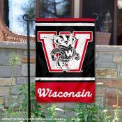 UW Badgers Vintage Vault Garden Flag