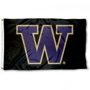 UW Huskies Logo Outdoor Flag