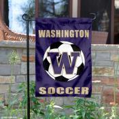 UW Huskies Soccer Yard Flag
