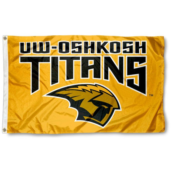 UW Oshkosh 3x5 Flag is made of 100% nylon, offers quad stitched flyends, measures 3x5 feet, has two metal grommets, and is viewable from both side with the opposite side being a reverse image. Our UW Oshkosh 3x5 Flag is officially licensed by the selected college and NCAA.
