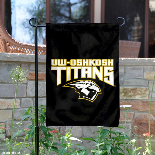 UW Oshkosh Titans Garden Flag is 13x18 inches in size, is made of 2-layer polyester, screen printed university athletic logos and lettering. Available with Same Day Express Shipping, our UW Oshkosh Titans Garden Flag is officially licensed and approved by the university and the NCAA.