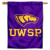 UW Stevens Point Pointers Logo Double Sided House Flag
