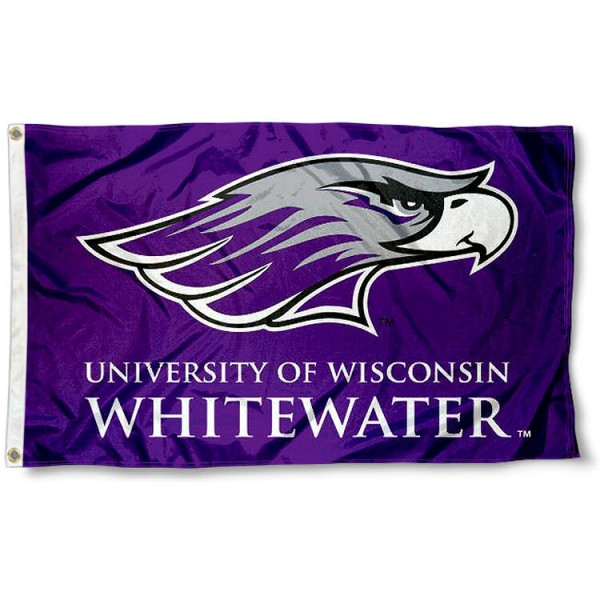 UW Whitewater Logo Flag measures 3'x5', is made of 100% poly, has quadruple stitched sewing, two metal grommets, and has double sided Team University logos. Our Whitewater Warhawks 3x5 Flag is officially licensed by the selected university and the NCAA.