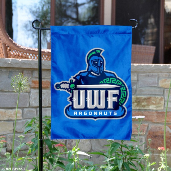UWF Argonauts Garden Flag is 13x18 inches in size, is made of 2-layer polyester, screen printed university athletic logos and lettering. Available with Same Day Express Shipping, our UWF Argonauts Garden Flag is officially licensed and approved by the university and the NCAA.