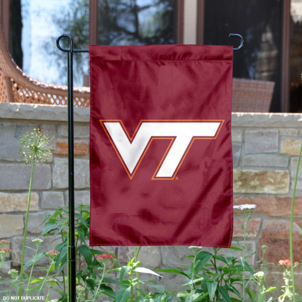 Va Tech Garden Flag is 13x18 inches in size, is made of 2-layer polyester, screen printed Virginia Tech athletic logos and lettering. Available with Same Day Express Shipping, Our Va Tech Garden Flag is officially licensed and approved by Virginia Tech and the NCAA.