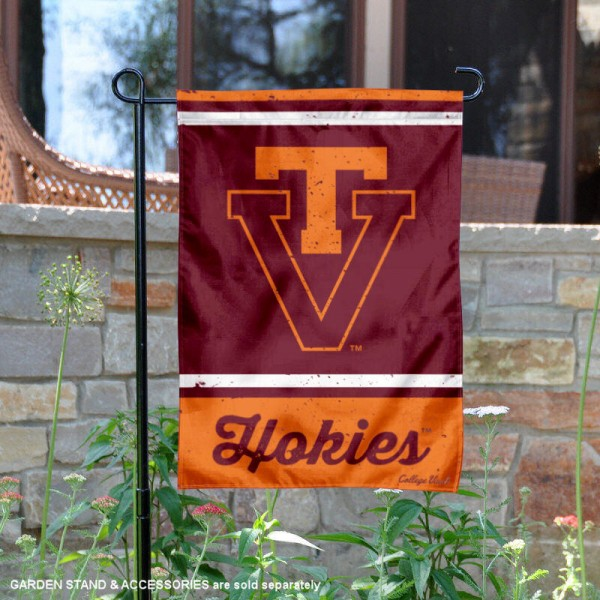 VA Tech Hokies College Vault Logo Garden Flag is 12.5x18 inches in size, is made of 2-layer polyester, screen printed university athletic logos and lettering, and is readable and viewable correctly on both sides. Available same day shipping, our VA Tech Hokies College Vault Logo Garden Flag is officially licensed and approved by the university and the NCAA.