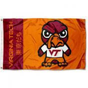 VA Tech Hokies Kawaii Tokyodachi Yuru Kyara Flag