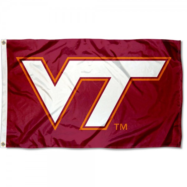 VA Tech Hokies Maroon VT Logo Flag measures 3x5 feet, is made of 100% polyester, offers quadruple stitched flyends, has two metal grommets, and offers screen printed NCAA team logos and insignias. Our VA Tech Hokies Maroon VT Logo Flag is officially licensed by the selected university and NCAA.