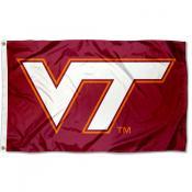 VA Tech Hokies Maroon VT Logo Flag