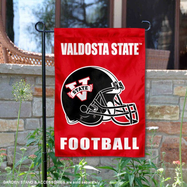 Valdosta State Blazers Helmet Yard Garden Flag is 13x18 inches in size, is made of 2-layer polyester with Liner, screen printed university athletic logos and lettering, and is readable and viewable correctly on both sides. Available same day shipping, our Valdosta State Blazers Helmet Yard Garden Flag is officially licensed and approved by the university and the NCAA.
